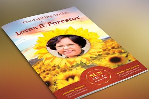 Sunflower Funeral Program-Publisher
