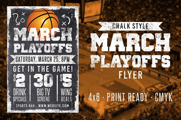 Chalk Basketball Flyer