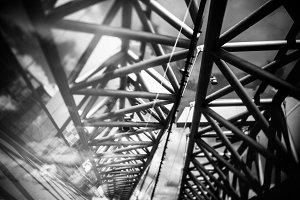 Modern bridge in Oslo