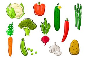 Natural healthy vegetables