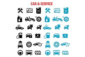 Transportation, car and service icon
