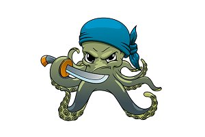 Angry octopus pirate