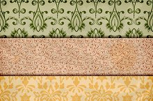 vector seamless floral borders on  c