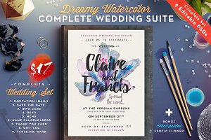 Dreamy Watercolor Wedding Suite II