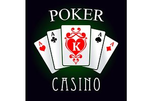 Poker casino game symbol