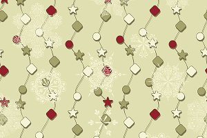 Vector Winter Seamless Pattern with