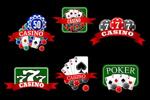 Casino icons and symbols