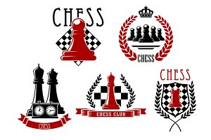 Chess sporting club emblems