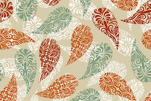 Vector Paisely  Seamless Pattern