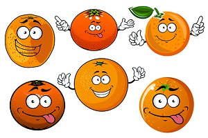 Sweet juicy oranges fruits