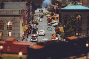 Miniature street scene