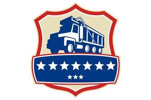 Triple Axle Dump Truck Stars Crest