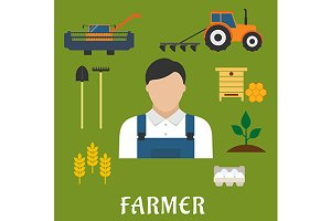 Farmer profession and agriculture