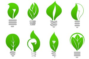 Green energy eco light bulbs