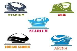 Modern sport stadiums and arenas