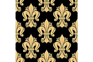 Royal french floral seamless pattern