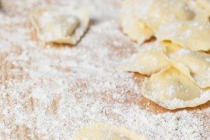 Pasta fresh ravioli