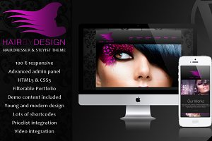 HairByDesign - Hairdresser WP Theme