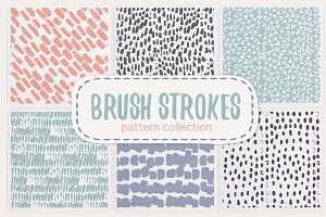 Brush strokes pattern collection