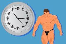 bodybuilding, icons, fitness