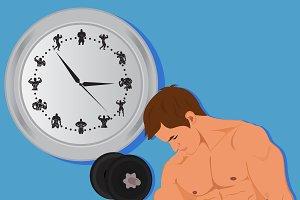 bodybuilding concept, fitness