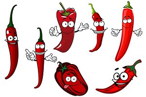 Red spicy hoy chili peppers