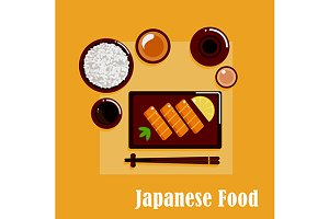 Japanese cuisine dinner menu