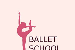 ballet school, icon, vector