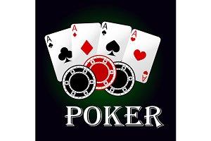Poker game symbol