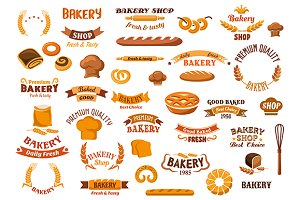 Bakery and pastry design elements