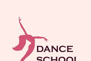 dance school emblem, icon
