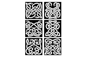 Celtic snakes knot patterns