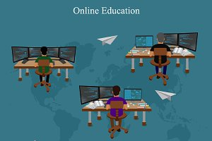 distance online learning, vector