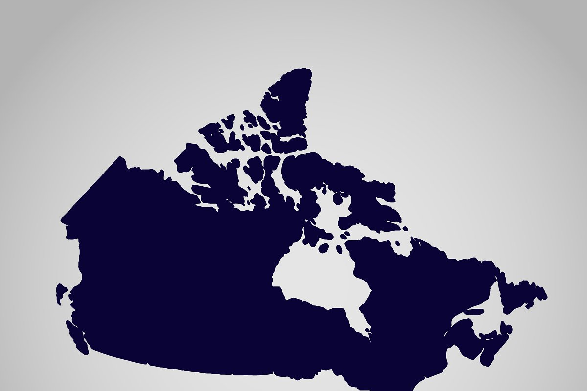 Map Of Canada Silhouette.Map Of Canada Vector Illustration