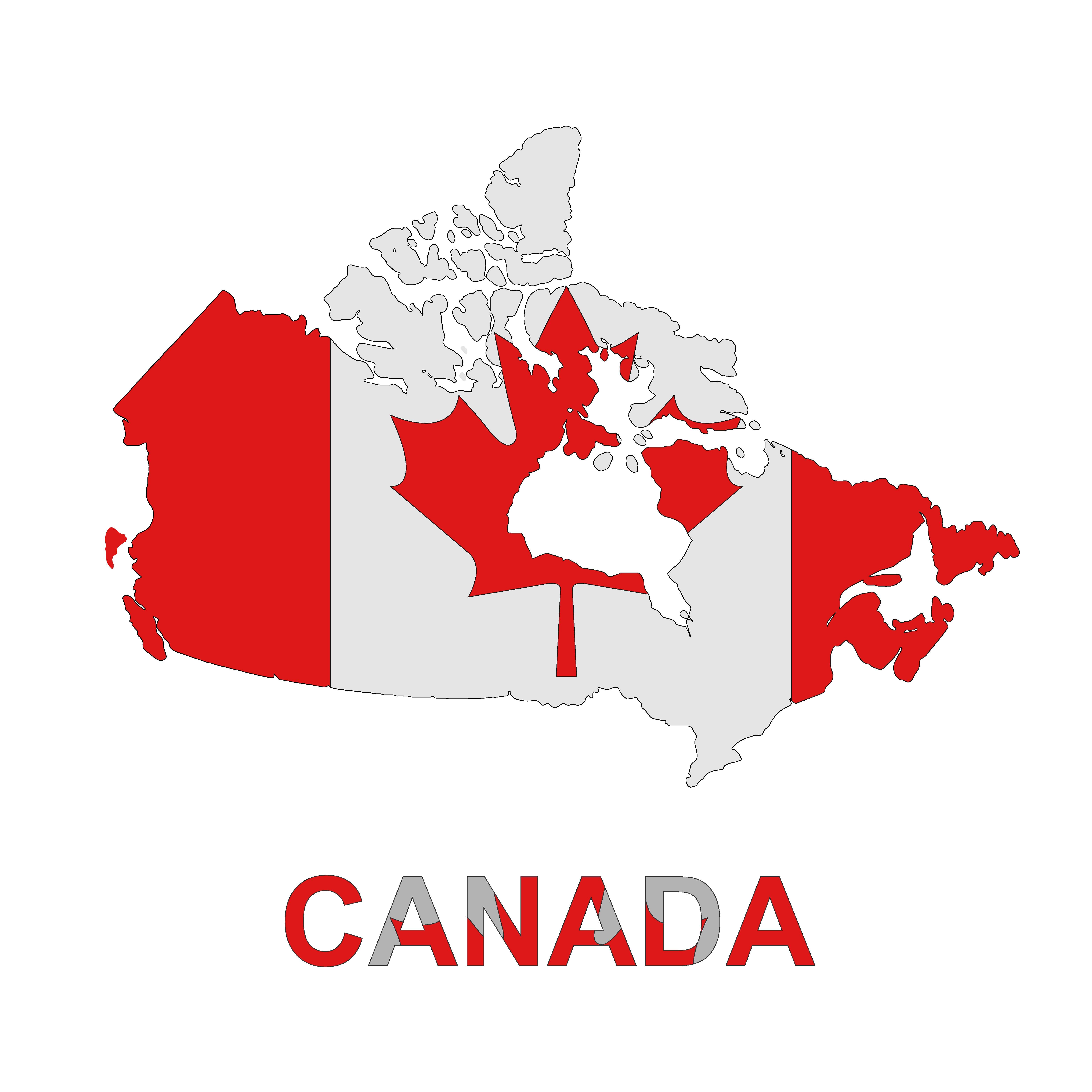map of Canada, vector illustration ~ Graphics ~ Creative Market