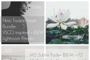The Filmic Fades Bundle: VSCO + BW