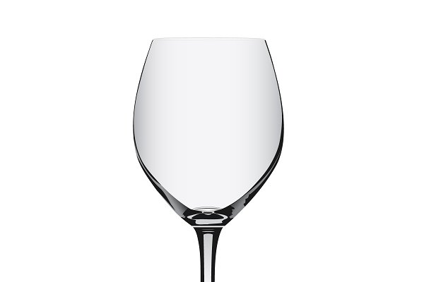 empty glass for red wine, vector
