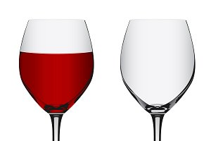 emply, wine, glass, vector