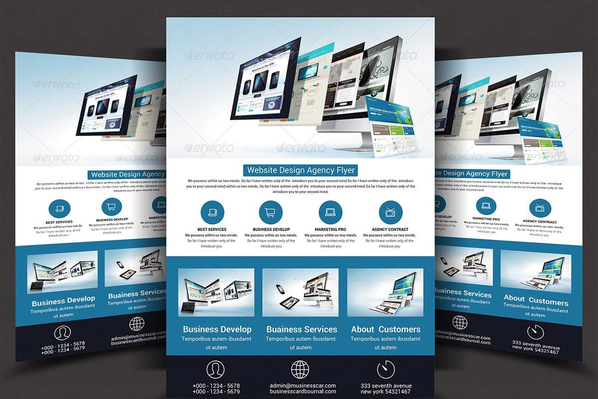 Website Design Agency Flyer ~ Flyer Templates ~ Creative Market