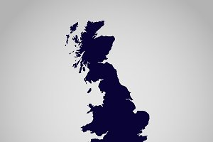 United Kingdom, map, vector