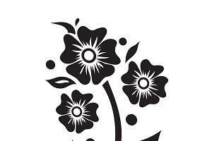flower, icon, illustration, vector