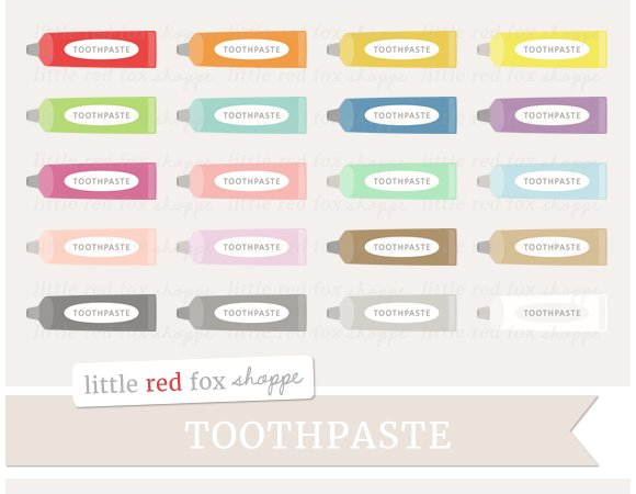 Toothpaste Clipart in Illustrations
