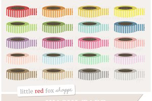 Striped Washi Tape Clipart