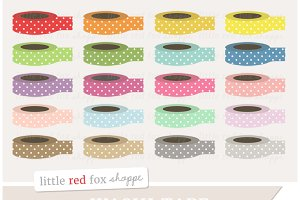 Polka Dot Washi Tape Clipart