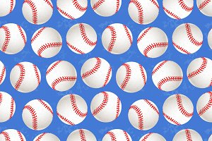 A lot of baseball balls on blue