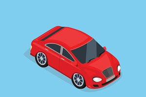 3d Isometric Sedan Automobile