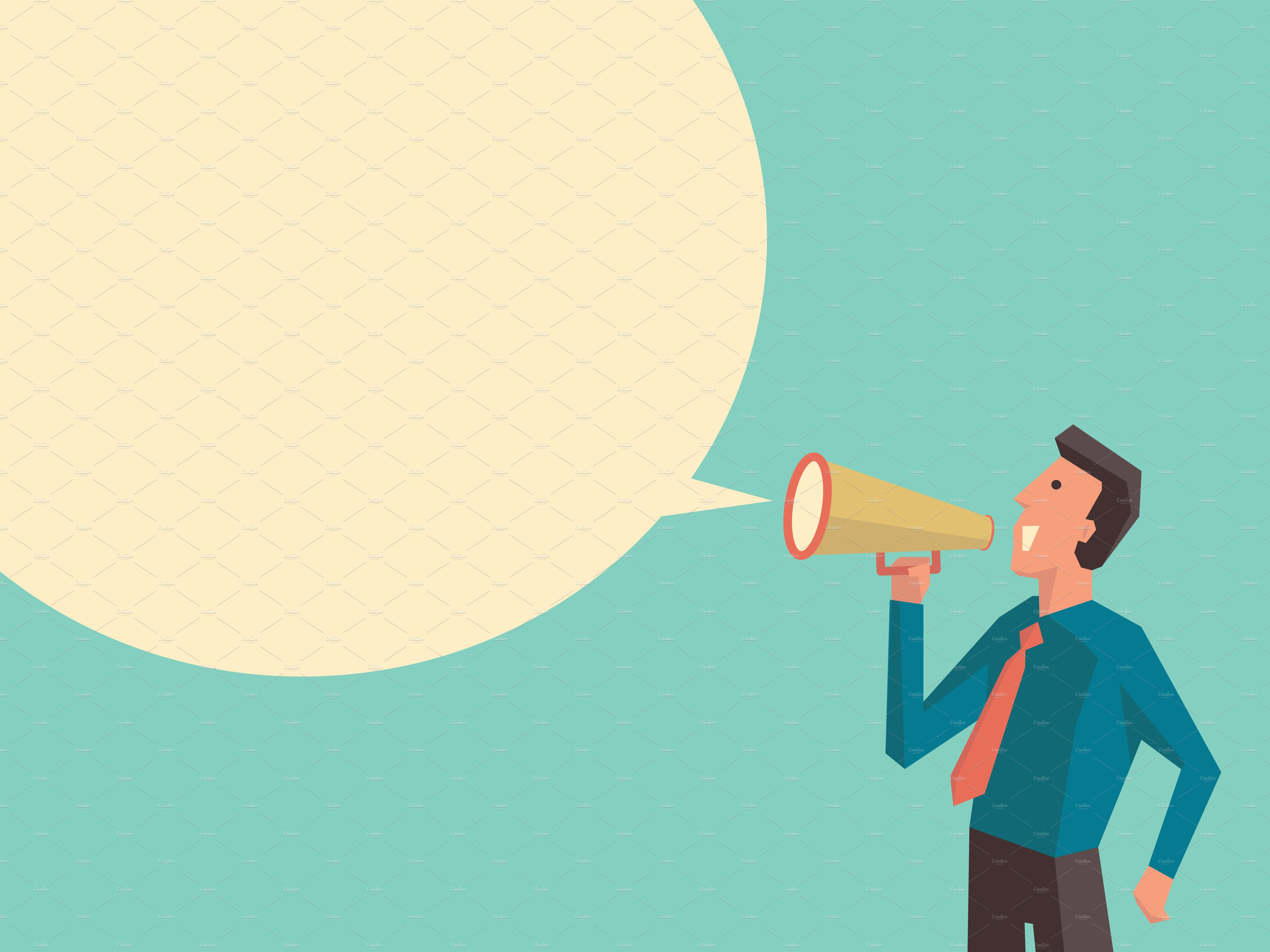 Businesspeople With Megaphone