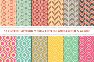 Vintage Retro Vector Patterns