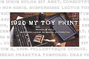1920 My Toy Print OTF set