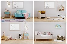 5Kids rooms MOCKUP poster and wall by  in Mockups